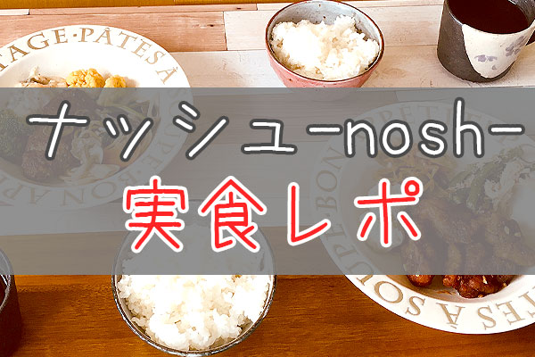 ナッシュ-nosh-実食口コミ