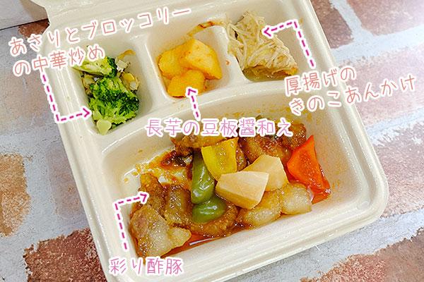 彩り酢豚メニュー詳細